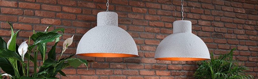 Lampes suspendues grises