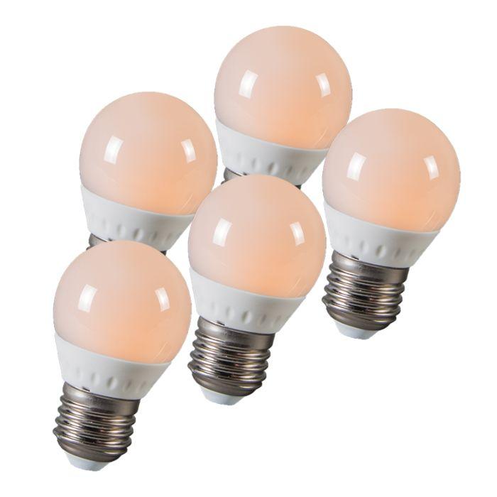 Ampoule-LED-balle-E27-3W-250-lumen-ca.-25W-Pack-de-5