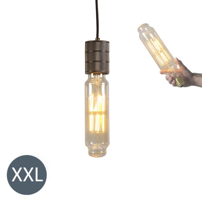 Suspension-Tower-bronze-avec-ampoule-LED-dimmable