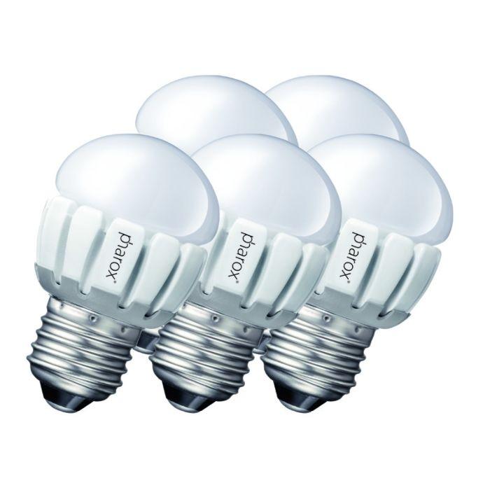 Un-set-de-5-Pharox-LED-200-P45-E27-5W-230V