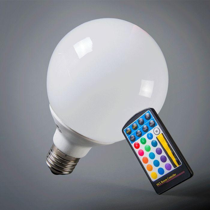 LED-globe-E27-RGB-95mm-télécommande-incluse.