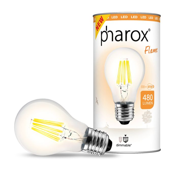 Ampoule-LED-Pharox-flame-E27-6W-480-lumen