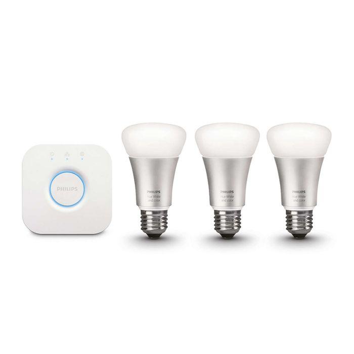 Kit-de-démarrage-LED-Philips-10W-E27-Pack-de-3