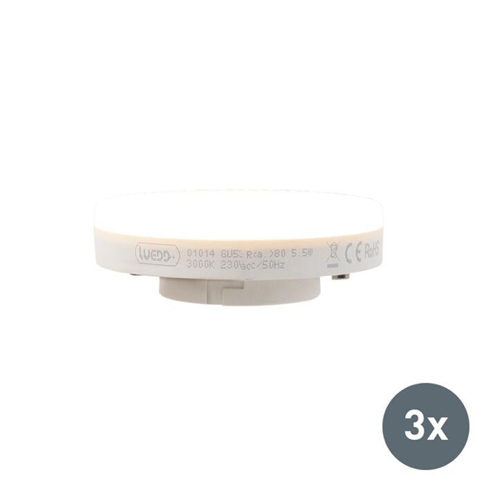 Ensemble-de-3-lampes-à-LED-GX53-5.5W-470-lumens-3000K