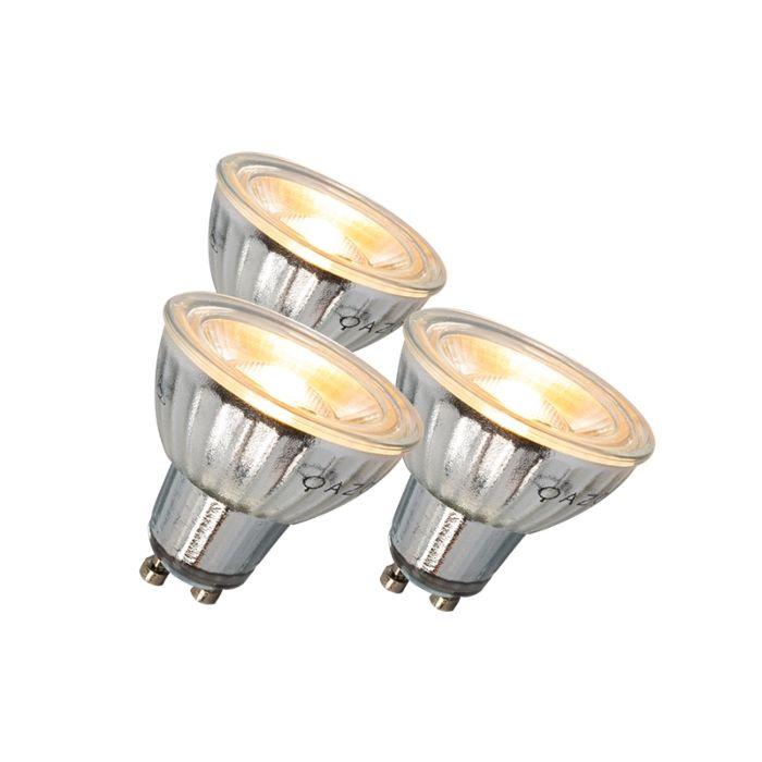 Ampoule-LED-GU10-7W-500LM-3000K-dimmable-Pack-de-3