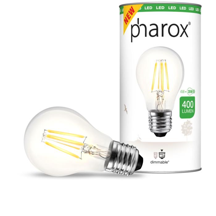 Ampoule-LED-à-filament-Pharox-A60-Clear-400-lumen