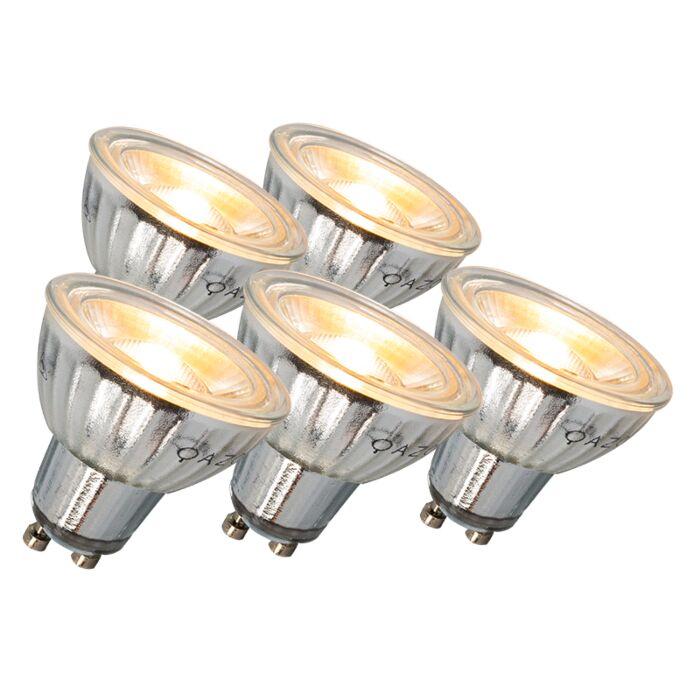 Ampoule-LED-GU10-7W-500LM-3000K-dimmable-Pack-de-5