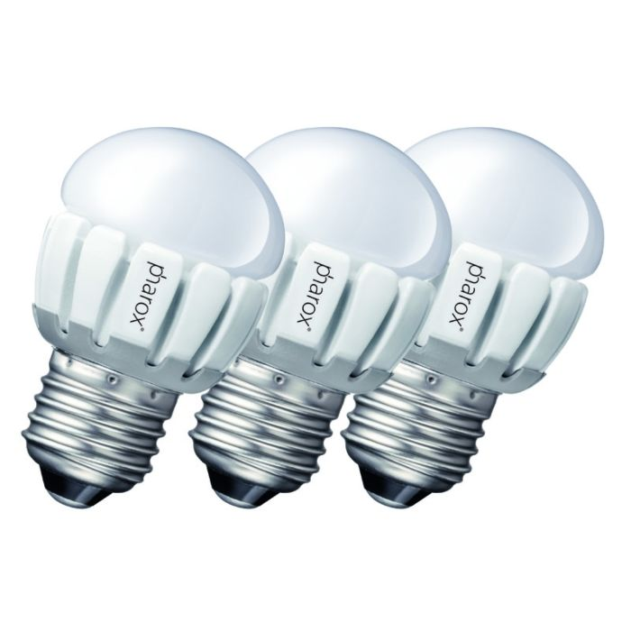 Un-set-de-3-Pharox-LED-200-P45-E27-5W-230V
