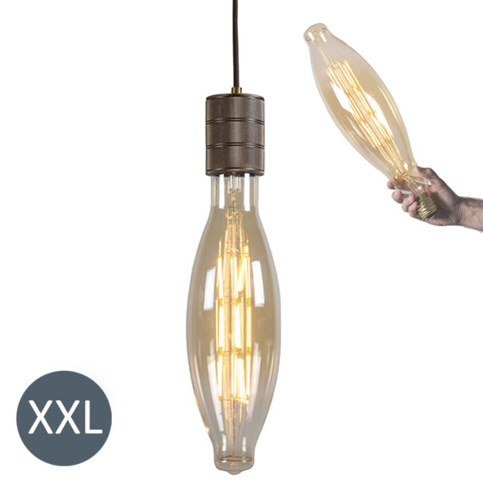 Suspension-Elips-bronze-avec-ampoule-LED-dimmable