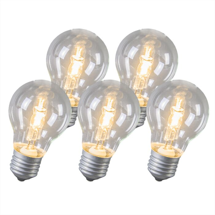 Ampoule-Halogène-E27-53W-Pack-de-5