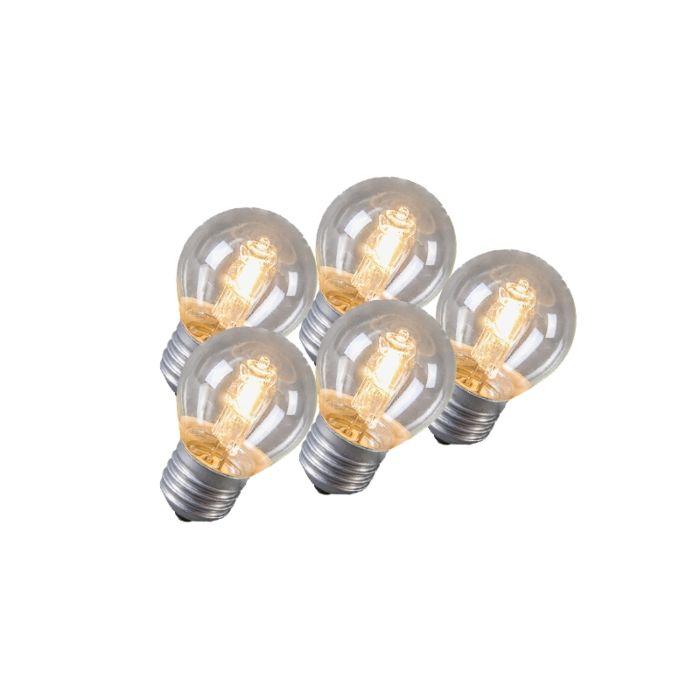 Set-de-5-ampoules-halogènes-E27-42W
