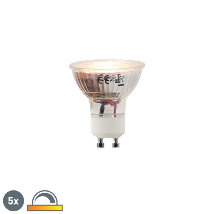Ensemble-de-5-lampes-à-LED-GU10-5W-2000-2700K-Dim-à-chaud