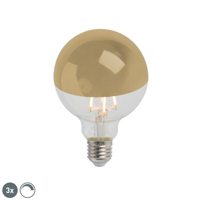 Lot-de-3-rétroviseurs-LED-E27-dimmables-G95-or-280lm-2300K