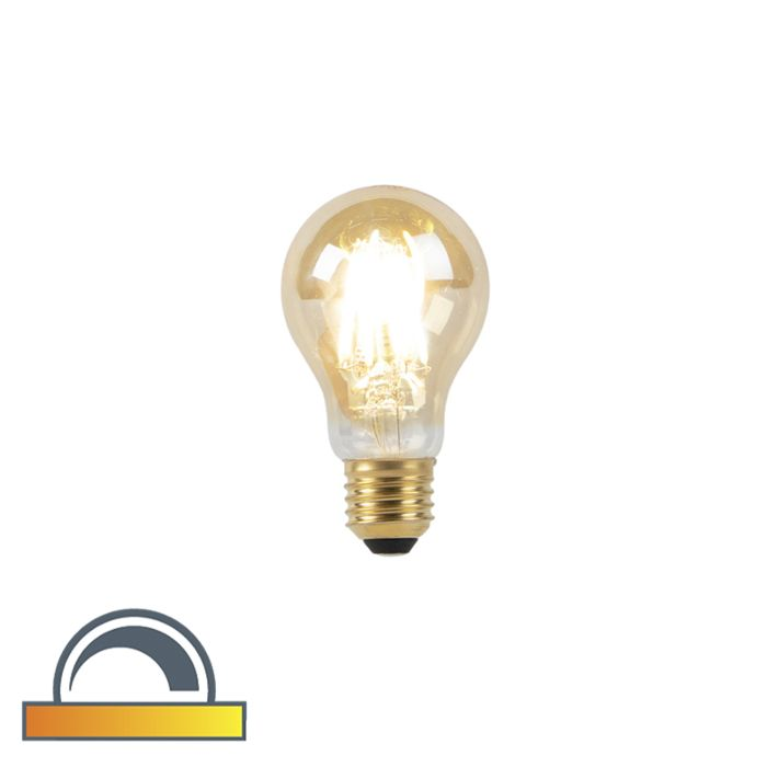 Lampe-à-LED-E27-A60-8W-2000-2600K-dim-pour-chauffer-le-filament-goldline