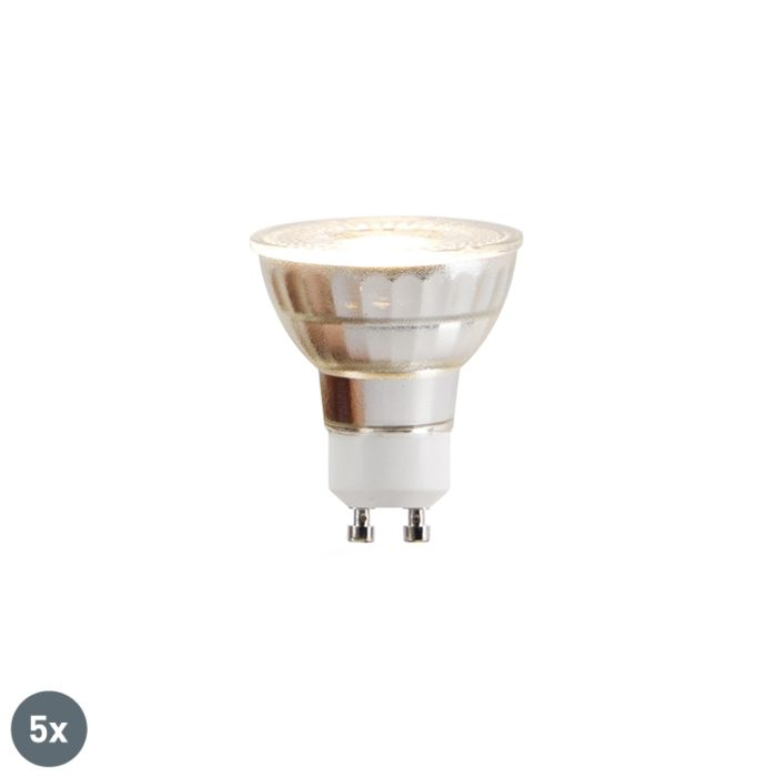 Ensemble-de-5-lampes-à-LED-GU10-COB-5W-380lm-2700K