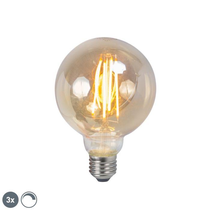Set-de-3-ampoules-LED-filament-E27-5W-2200K-G95-fumé-dimmables
