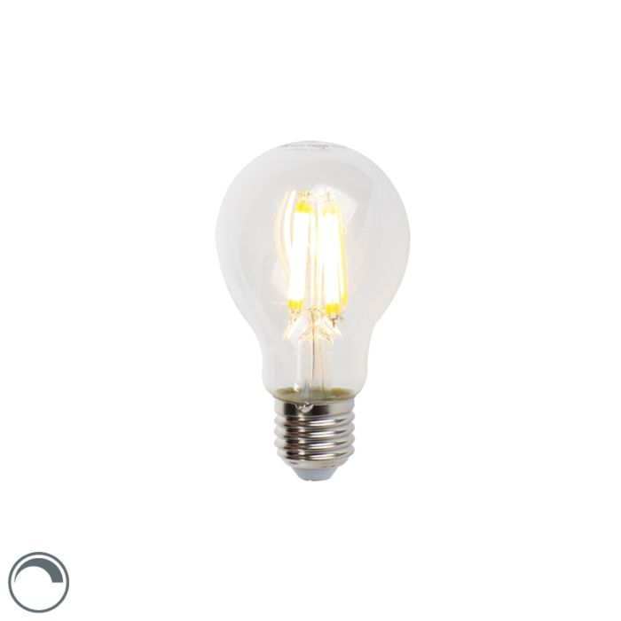 Lampe-à-incandescence-LED-E27-7W-806lm-A60-Gradable-Clair