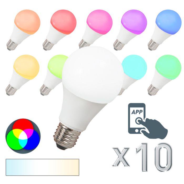Ampoule-LED-E27-240V-7W-500lm-A60-Smart-Pack-de-10