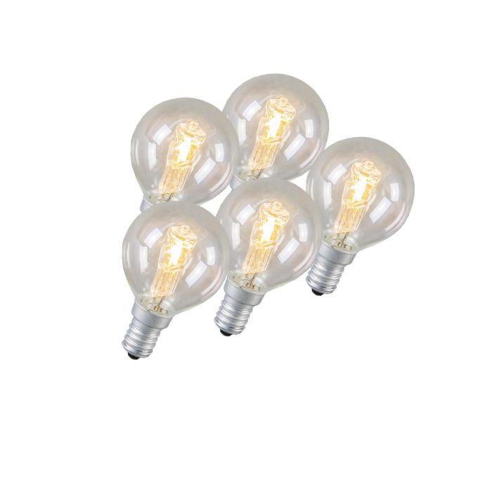 Set-de-5-ampoules-halogènes-E14-42W
