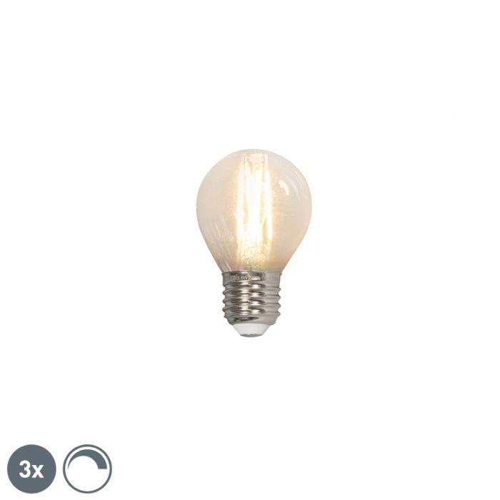 Lot-de-3-ampoules-LED-à-filament-E27-240V-3.5W-350lm-P45-dimmable