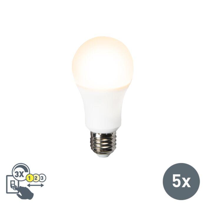 Set-de-5-ampoules-LED-A60-12W-E27-3-en-1