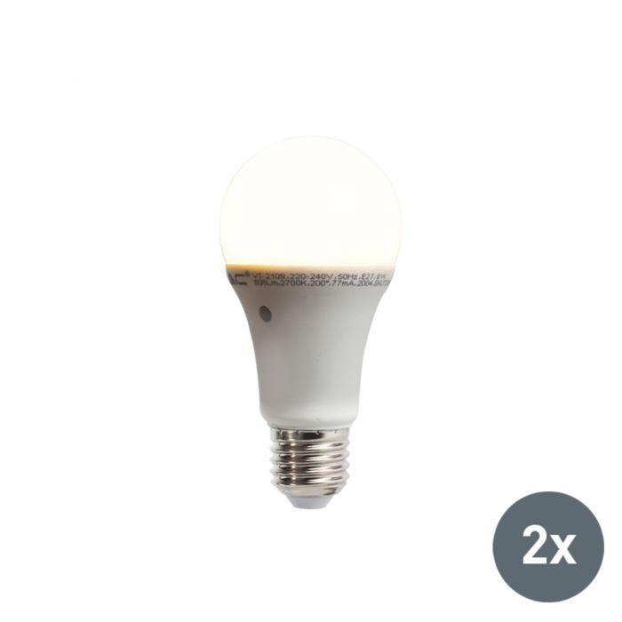 Lot-de-2-lampes-à-LED-avec-capteur-intégré-lumière-obscurité-E27-9W-806-lumen-blanc-chaud-2700K