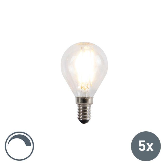 Lot-de-5-lampes-à-boule-à-filament-LED-dimmable-E14-5W-470lm-2700K