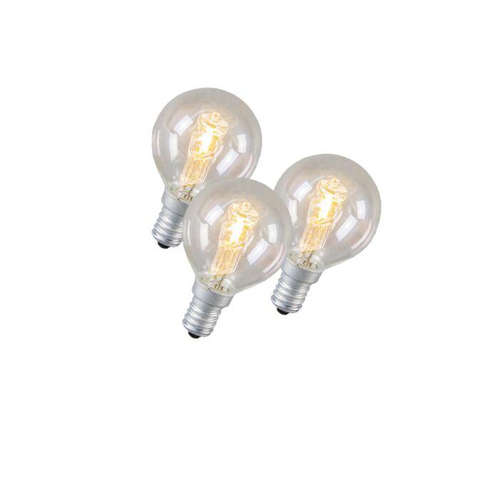 Set-de-3-ampoules-halogènes-E14-42W