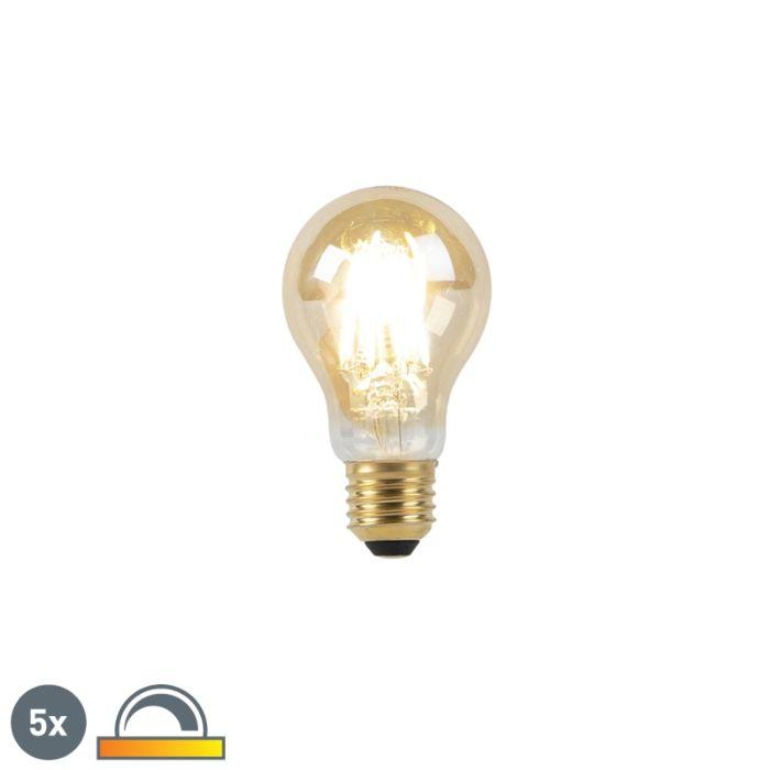 Ensemble-de-5-lampes-à-LED-E27-8W-2000-2600K-dim-pour-réchauffer-le-filament-goldline