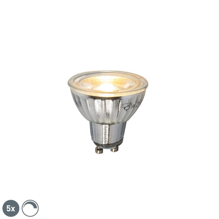 Ensemble-de-5-lampes-à-LED-à-intensité-réglable-GU10-7W-500LM-2700K