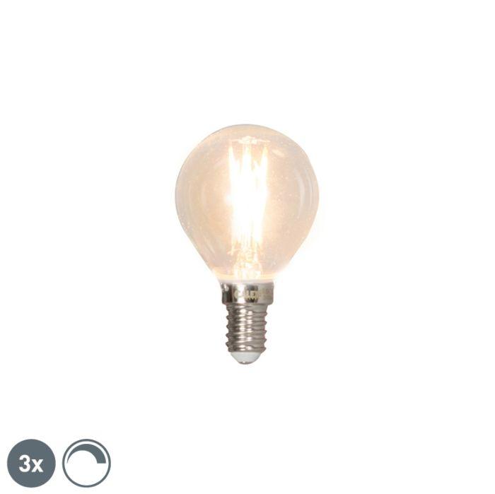 Ensemble-de-3-lampes-à-bille-à-filament-LED-réglables-E14-3W-350lm-2700K