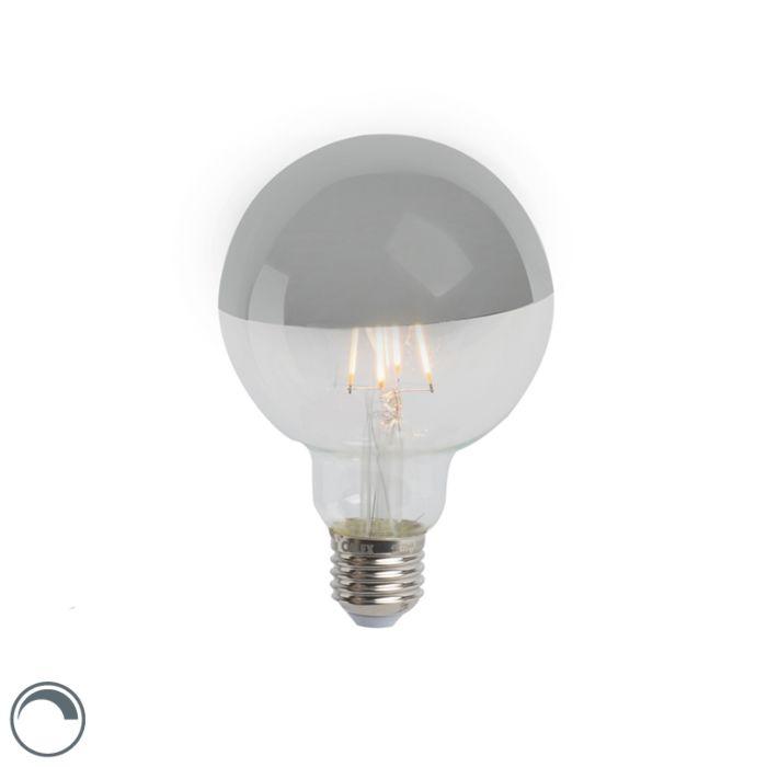 E27-dimmable-LED-tête-de-lampe-à-incandescence-miroir-G95-argent-280lm-2300K