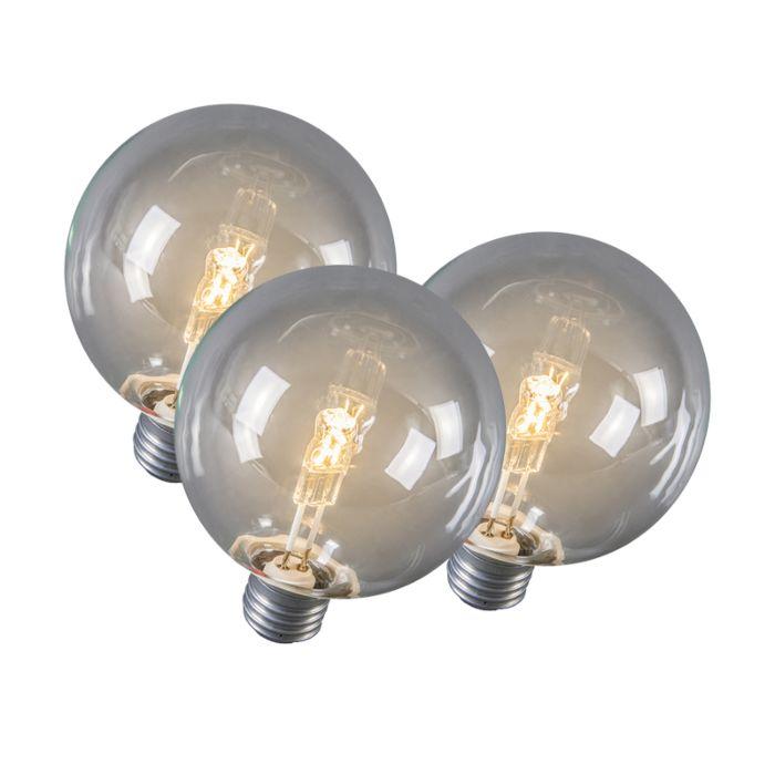 Set-de-3-ampoules-halogènes-E27-Globe-95mm-28W