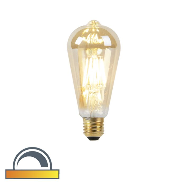 Lampe-à-LED-E27-ST64-8W-2000-2600K-dim-pour-chauffer-le-filament-goldline