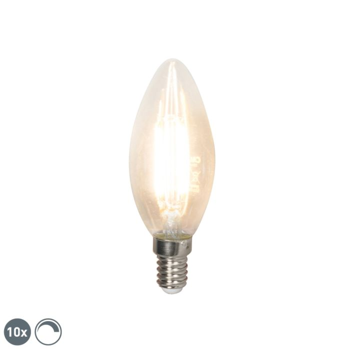 Lot-de-10-bougies-à-incandescence-LED-E14-240V-3.5W-350lm-B35-dimmable