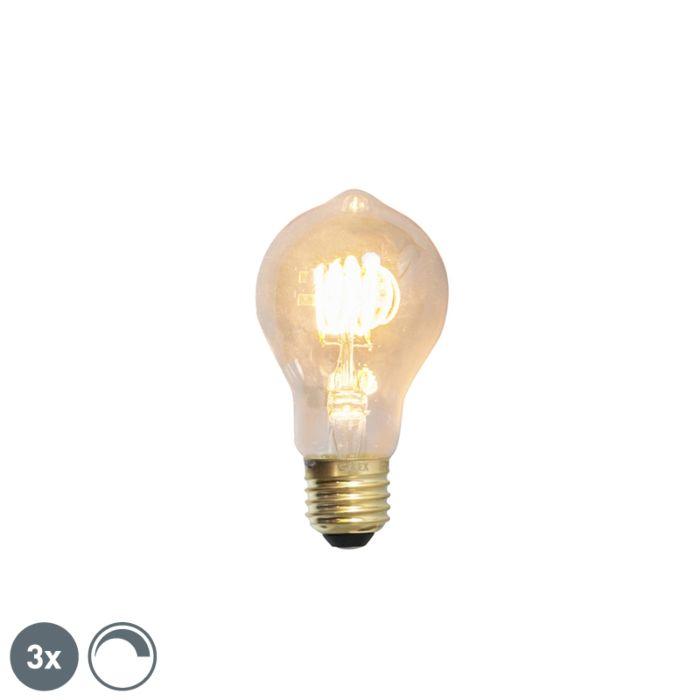 Lot-de-3-lampes-à-incandescence-LED-E27-dimmables-4W-200lm-2100-K