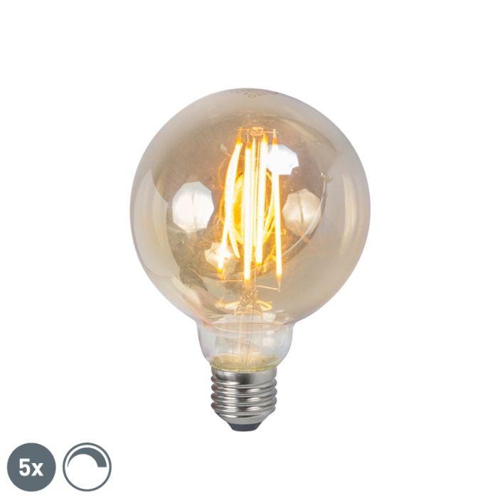 Ensemble-de-5-lampes-à-fumée-à-filament-LED-E27-dimmables-5W-450lm-2200K