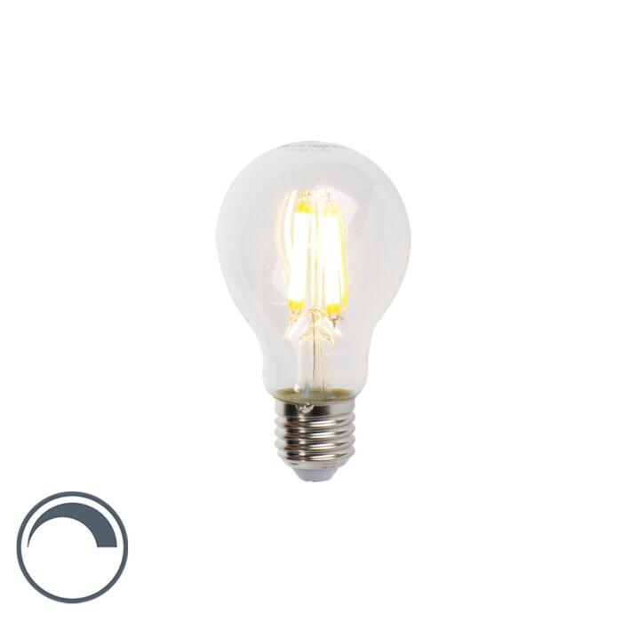 Lampe-à-incandescence-LED-E27-7W-806lm-A60-Gradable-Clair