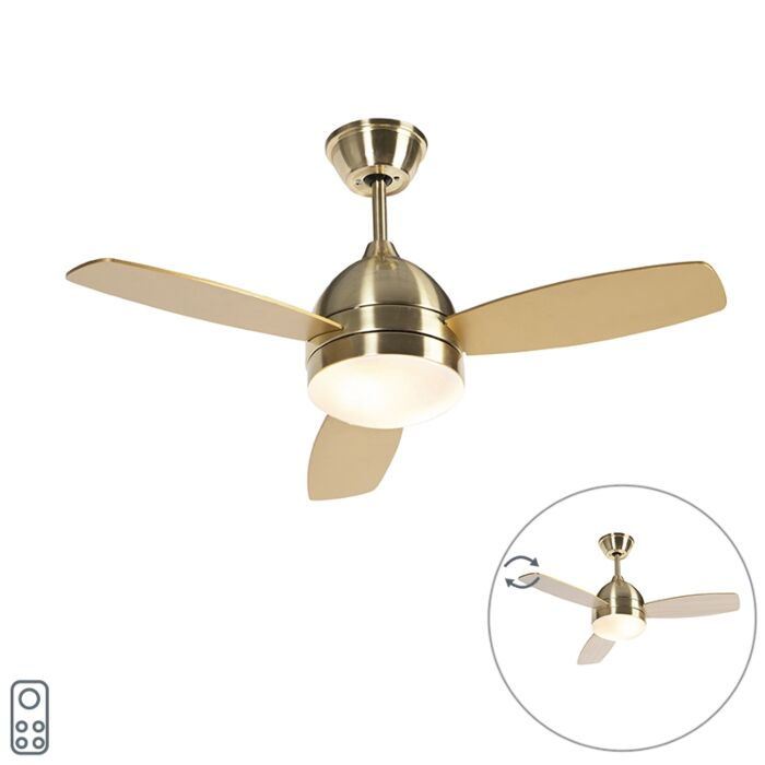 Ventilateur-de-plafond-en-laiton-avec-télécommande---Rotar