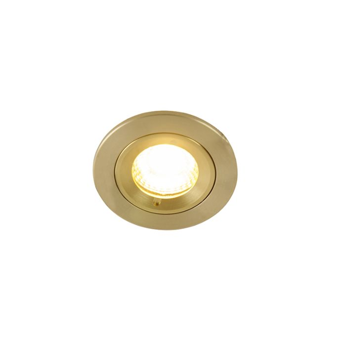 Spot-encastrable-moderne-or-7,8-cm-IP44---Xena-Round