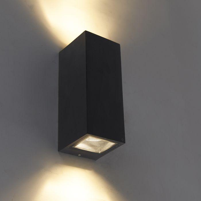 Applique-moderne-noire-GU10-AR70-IP54---Baleno-II
