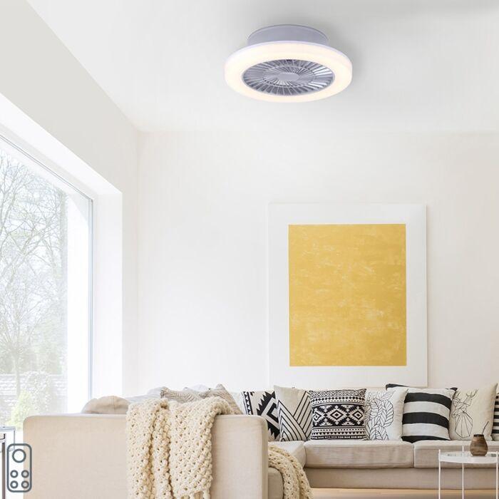 Ventilateur-de-plafond-design-gris-avec-LED---Maki