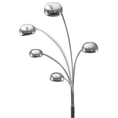 Lampadaire-Seventies-5-lumières-en-acier-205cm