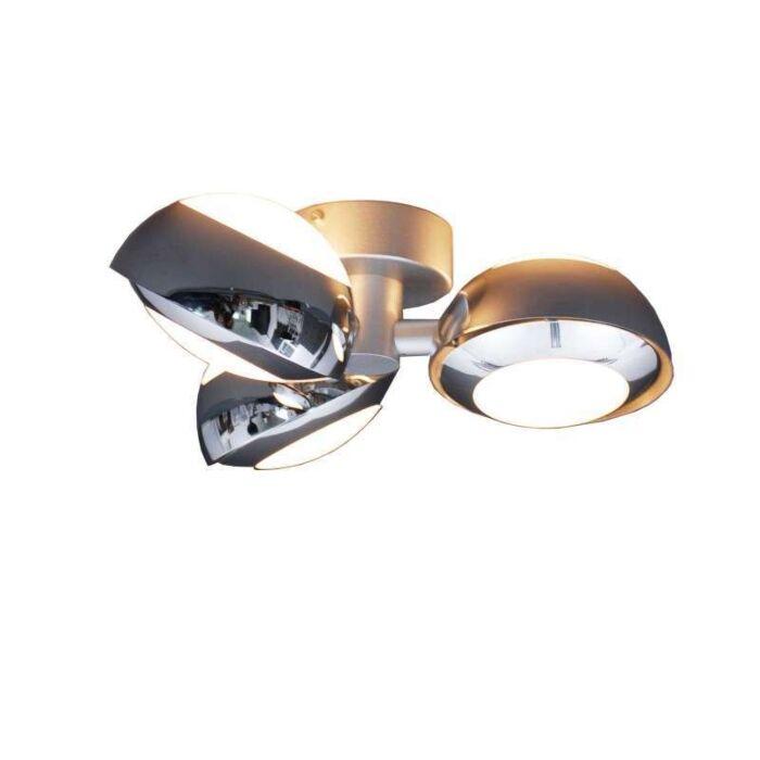 Plafonnier-Curio-3-lumières-chrome