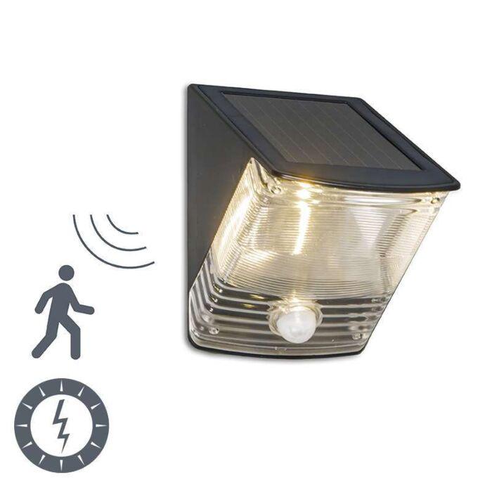 Applique-Dark-LED-à-détecteur-de-mouvements---énergie-solaire