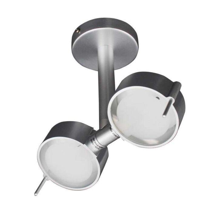 Plafonnier-2-spots-Eye-aluminium