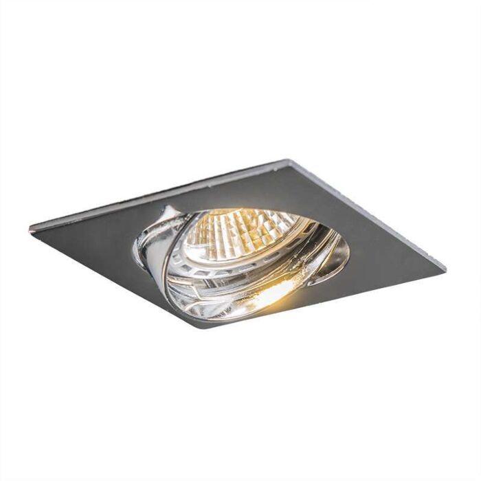 Spot-encastré-LED-Edu-carré-inclinable-en-chrome