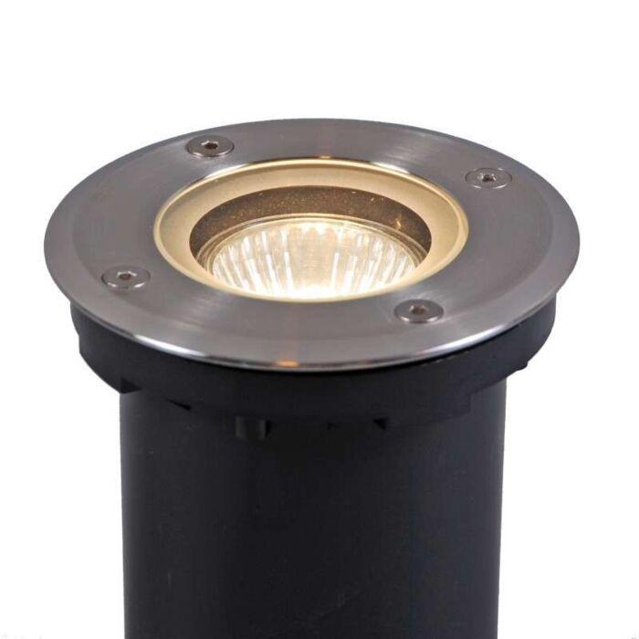 Spot-de-sol-Luton-rond-GU10-avec-ampoule-halogène