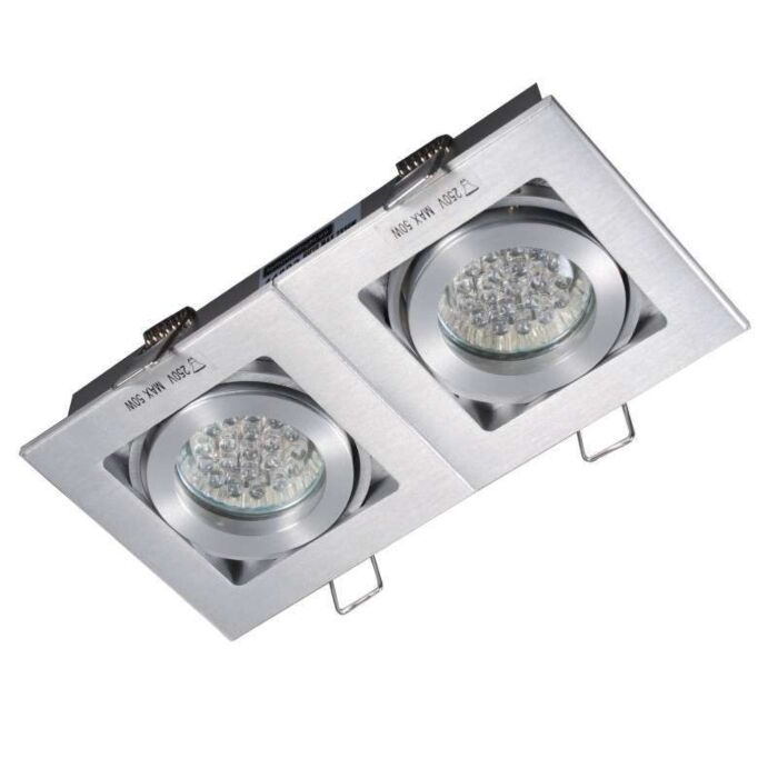 Ensemble-2-spots-Quadro-aluminium