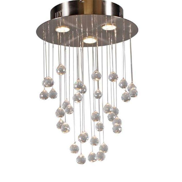 Plafonnier-Drops-3-lumières-acier